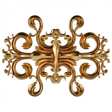Set of gold ornament. Isolated over white background