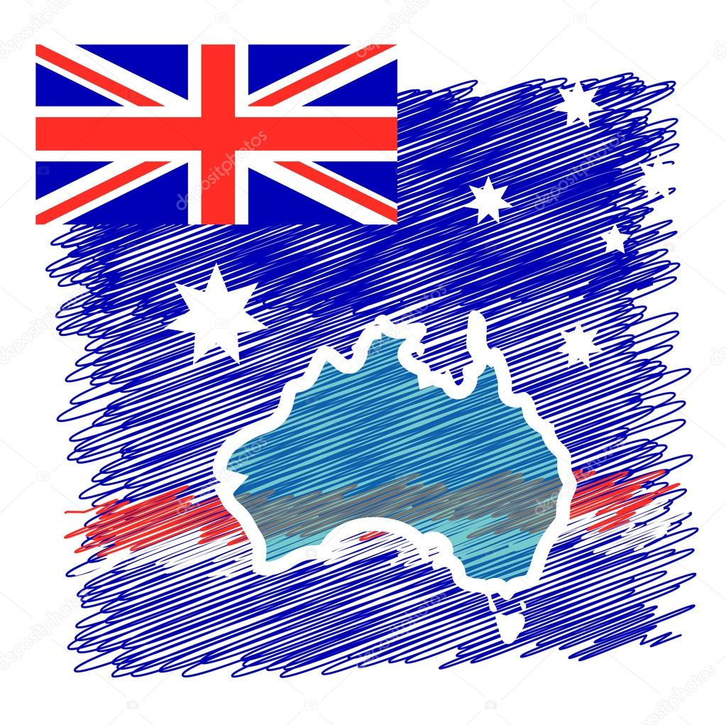 Australien Karta Lander.Australien Land Kontinent Stock Vektor C Oioioio 100528802
