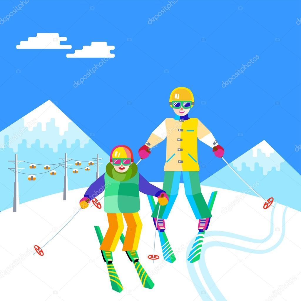 картинка на небе солнце люди на лыжах другой раз софья
