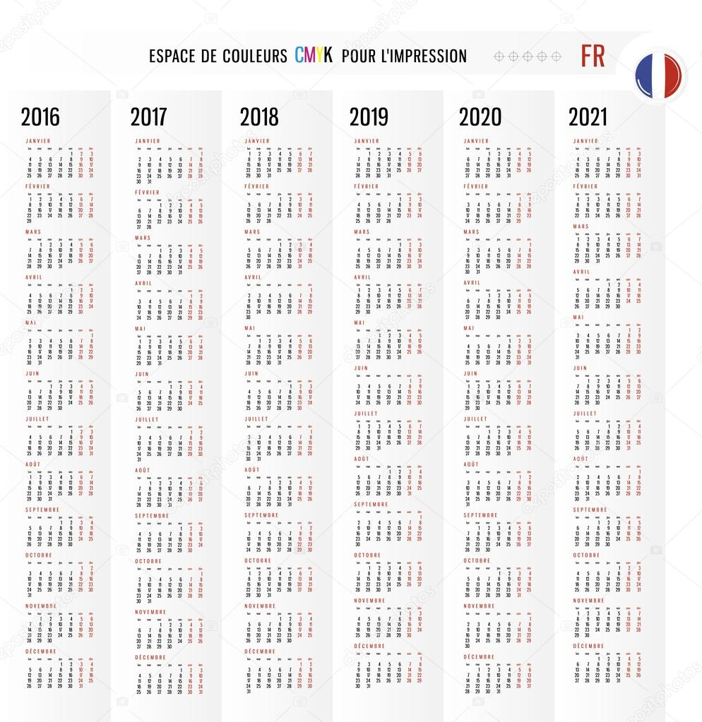 Calendario Italiano 2020 Con Festivita.Calendario 2016 2017 2018 2019 2020 2021 Vector Set In