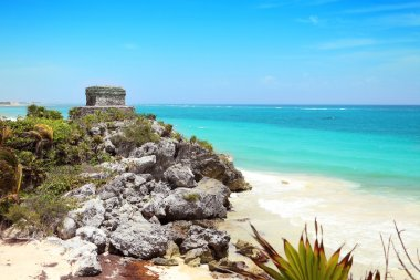 Mayan ruins at Yucatan peninsula in Mexico