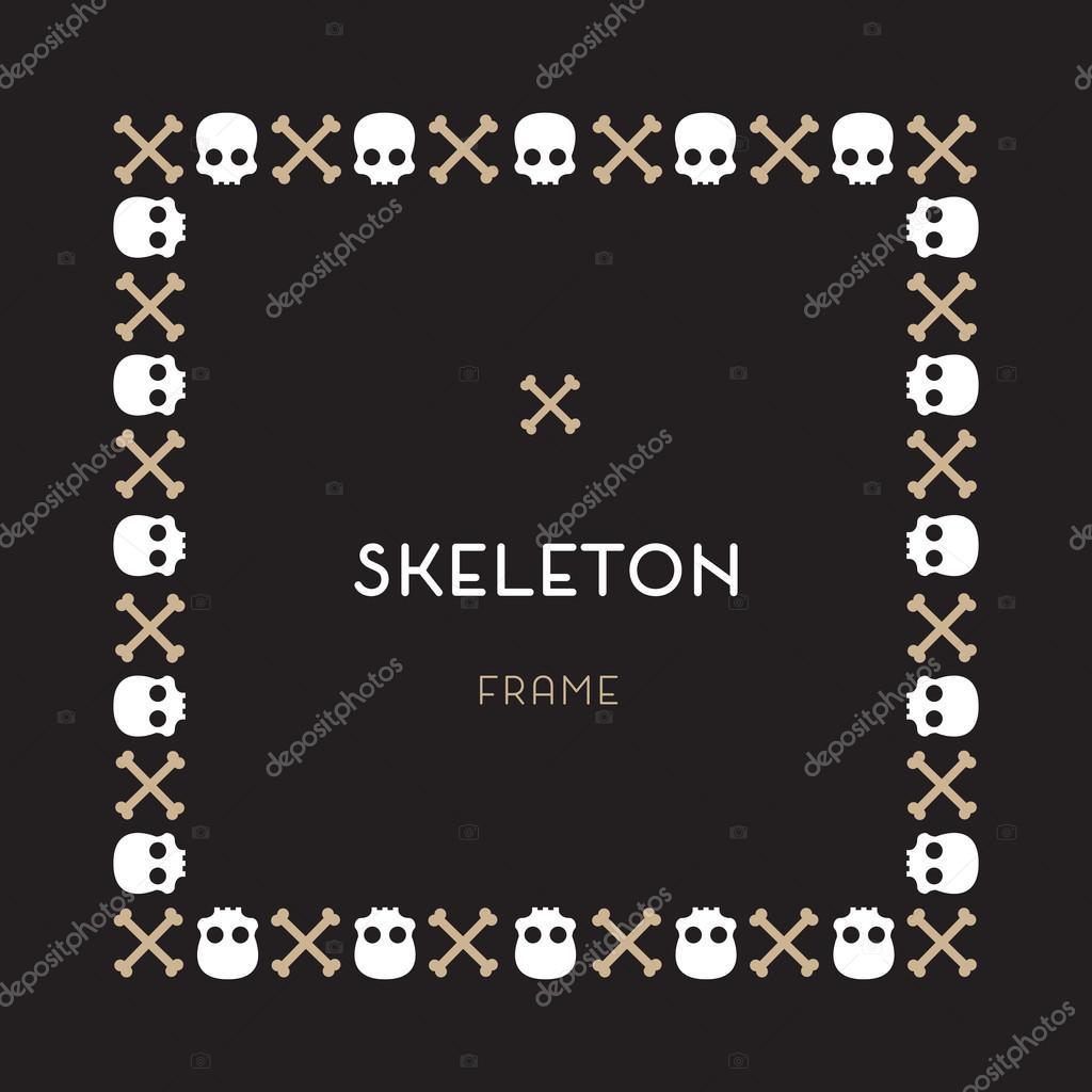 Cráneo y huesos marco — Archivo Imágenes Vectoriales © LetsPlayArts ...