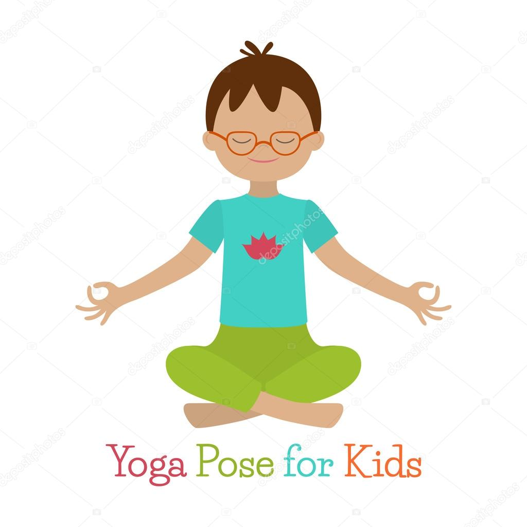 Kid Yoga Pose Stock Vector