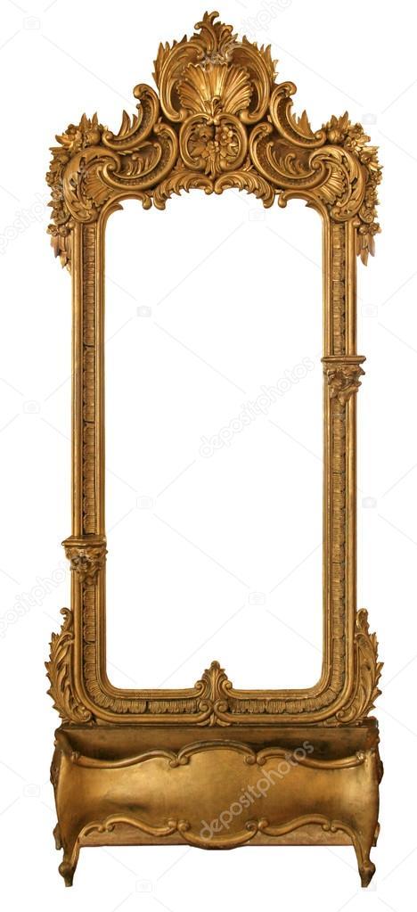Alter Spiegel in einem geschnitzten Rahmen — Stockfoto © ccc14 #91406064