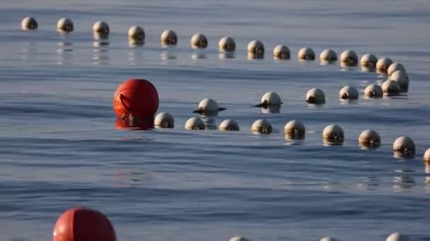 Bojen auf dem Wasser im Meer