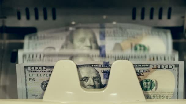 Hotovostní peníze. Čítač směnky dolar