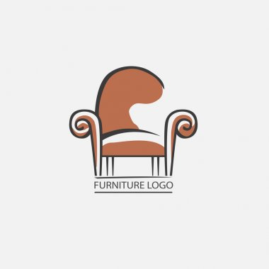 Sofa furniture logo for your business. Element design vector set stock vector