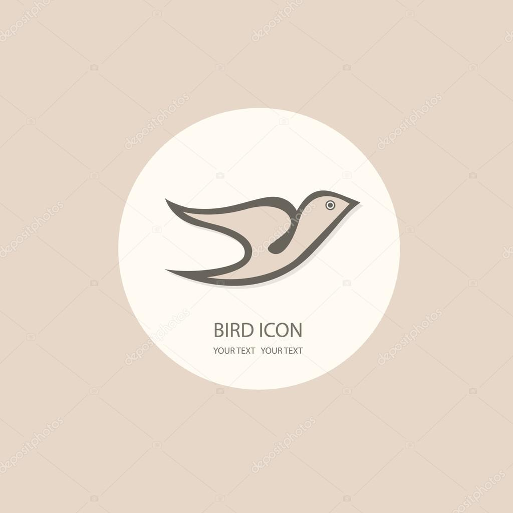 Bird logo template. Abstract Icon. Business concept. Use for any