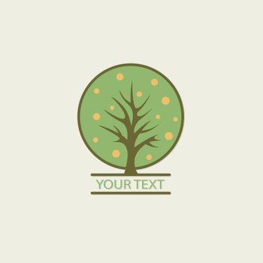 Tree vector logo design template. Garden logotype creative conce