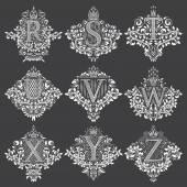 Fotografie Satz von heraldischen Monogramme in Form von Wappen