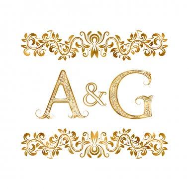 A&G vintage initials logo symbol.