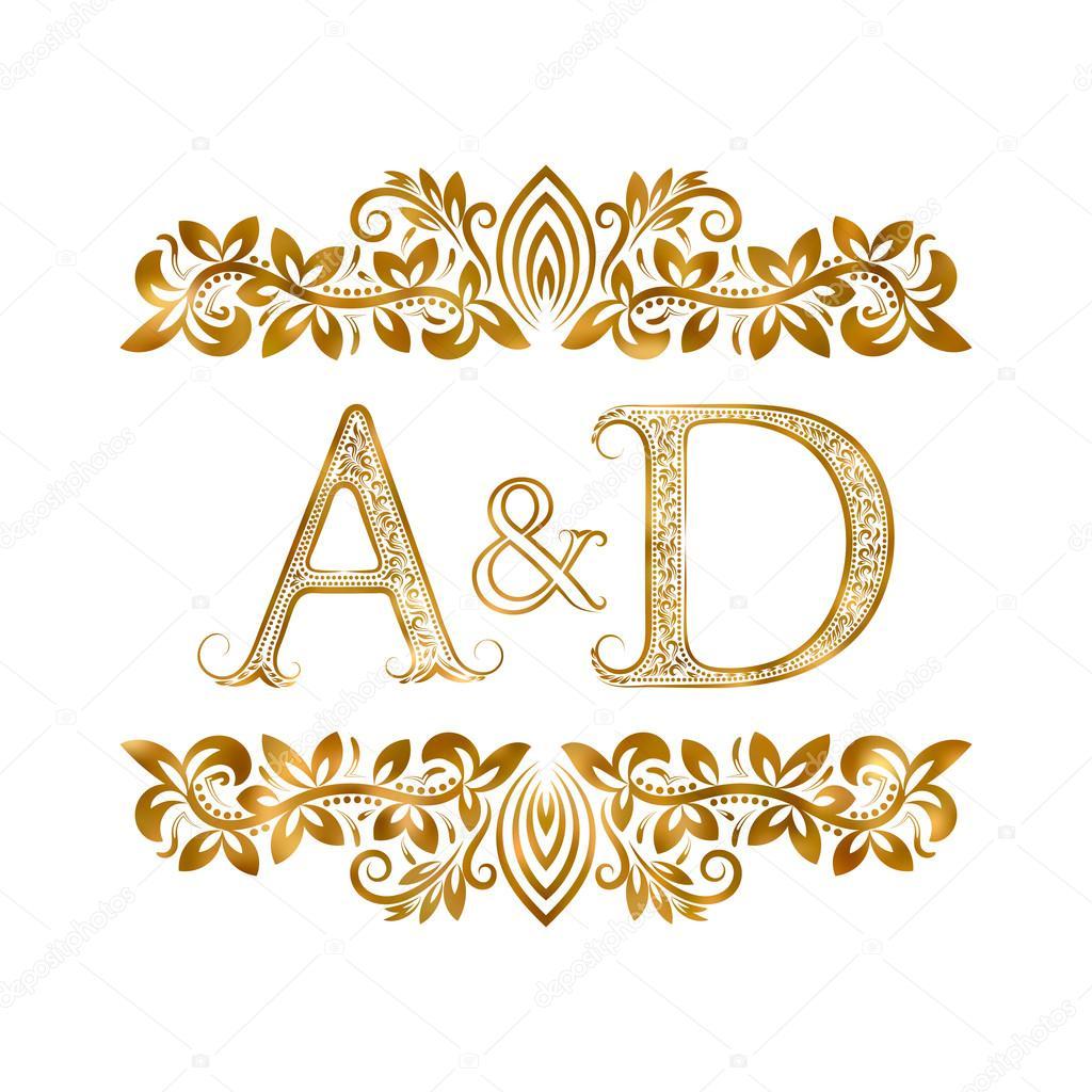 A d vintage initials logo symbol stock vector vectordivider 113365906 - Free d home design online ...