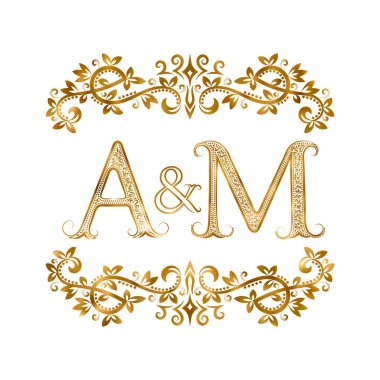 A&M vintage initials logo symbol.