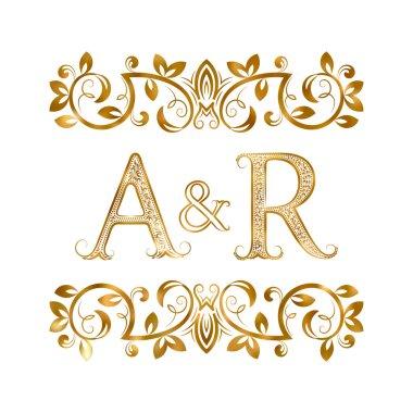 A&R vintage initials logo symbol.
