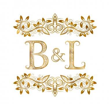 B&L vintage initials logo symbol.