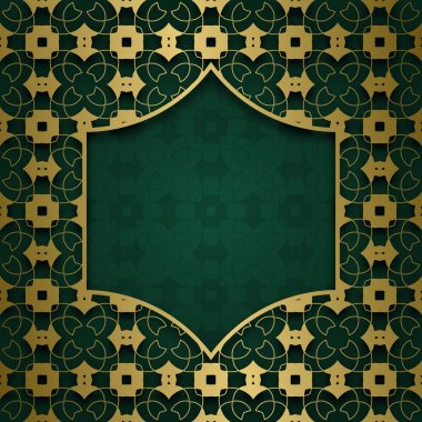 Traditional ornamental background with frame