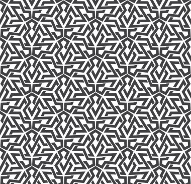 Seamless pattern of intersecting polygons