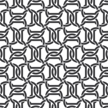 Seamless pattern of intersecting dumbbells