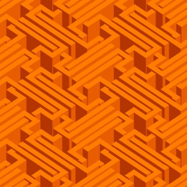 Abstract illusory endless isometric seamless pattern