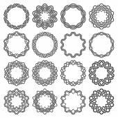 Sedici elementi decorativi decagono per il disegno