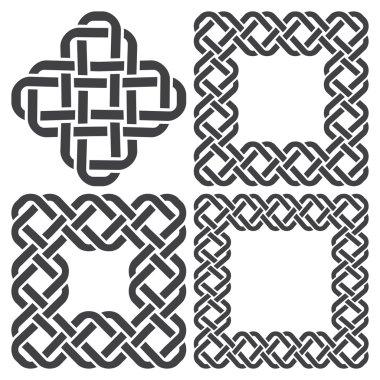 Square decorative elements for design