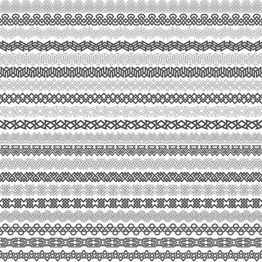 Twenty border elements for frames in knotting style