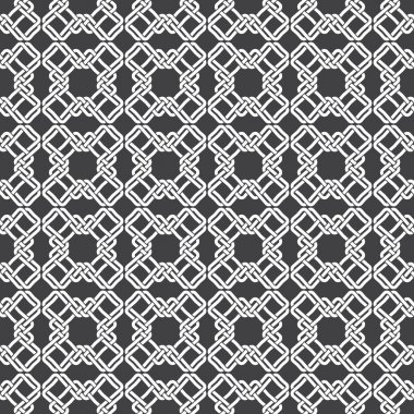 Seamless pattern of braided crosses