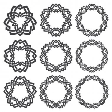 Round frames for design