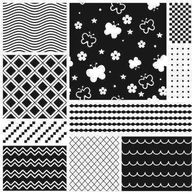 Absract seamless patterns set