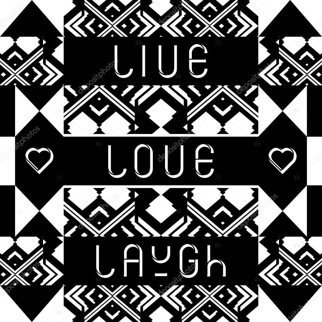Live Love Laugh Quote Live Love Laugh' Quote Typographical Background  Stock Vector