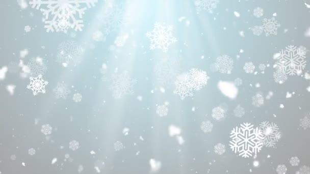 Vánoční zimní sněhové vločky 3 smyk pozadí