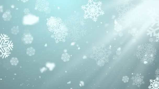 Christmas Winter Snowflakes 2 Loopable Background