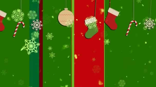 Christmas Stripes 1 Loopable Background