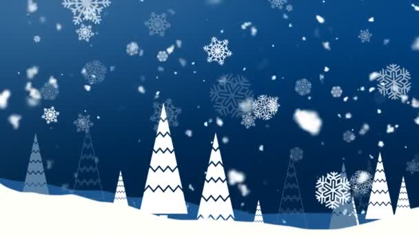 Weihnachten Schneeflocken 1 loopable Hintergrund