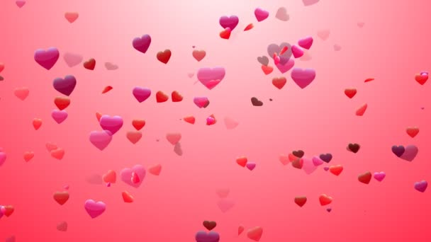 Heart Confetti 3 Loopable Background