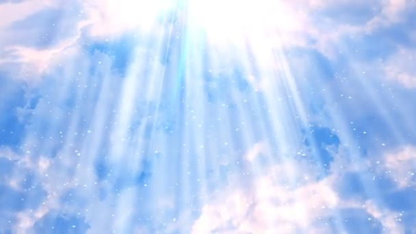Heavenly Rays Clouds 2 Loopable Background