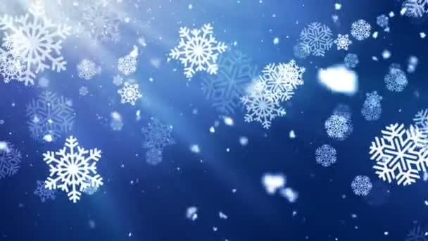 Urlaub Schneeflocke dunkel 1 loopable Hintergrund