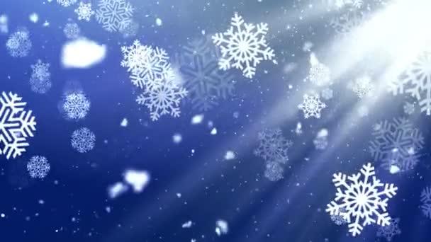 Holiday Snowflake Dark 2 Loopable Background