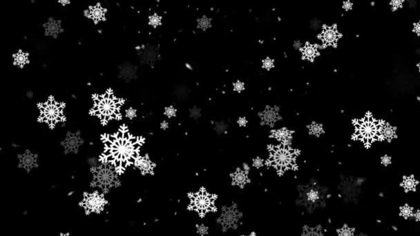 Téli hó és hó pelyhek 1 hurkolható háttér
