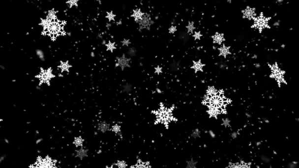 Winter Snow and Snow Flakes 2 Loopable Background