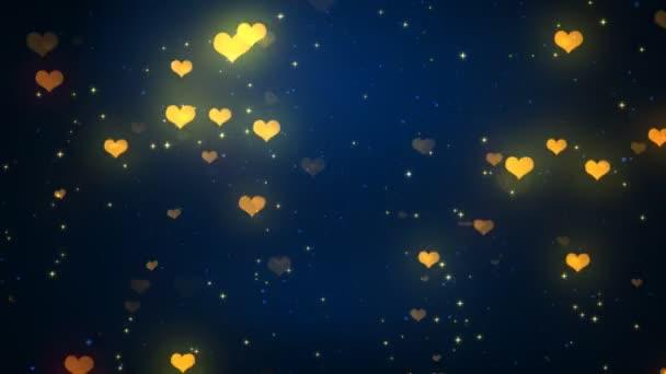 Valentine Herz Lichter 1 Loopable Hintergrund