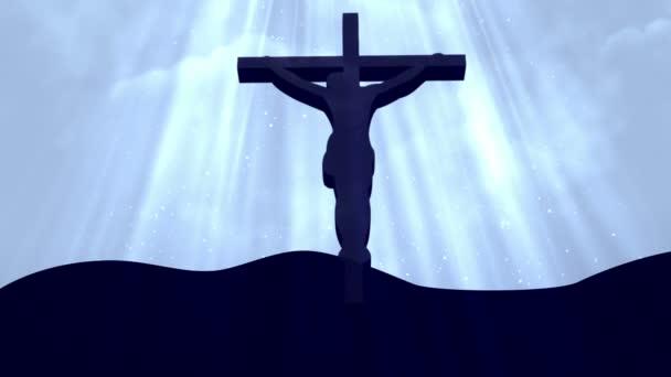Krisztus a kereszt-istentisztelet Loopable háttér
