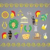 Set of ancient Greece elements
