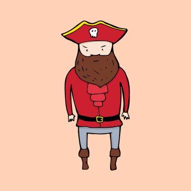 Cute pirate in sketch style