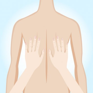 Illustration of a massage. Manual therapy.