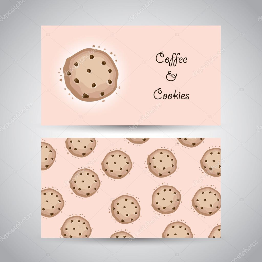 Two business card with cookies stock vector merionmerion 83763938 two business card with cookies stock vector colourmoves