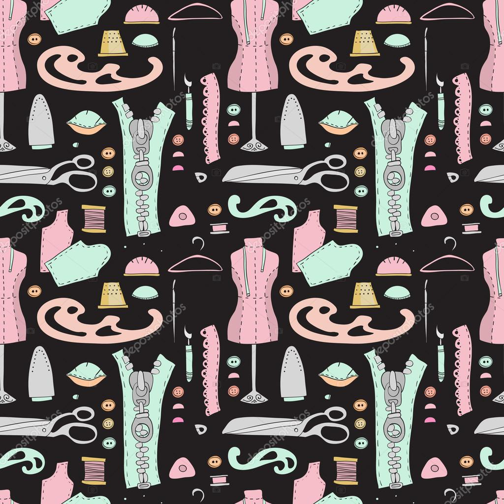 Seanless Muster mit Nähtechnik — Stockvektor © merion_merion #88376170
