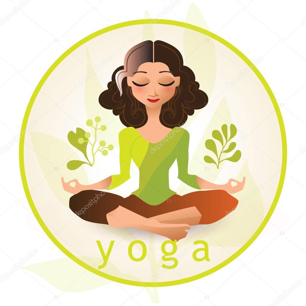 Cartoon Style Illustration Of Yoga Woman Yoga Character Stock Vector C Ring Ring 111825504