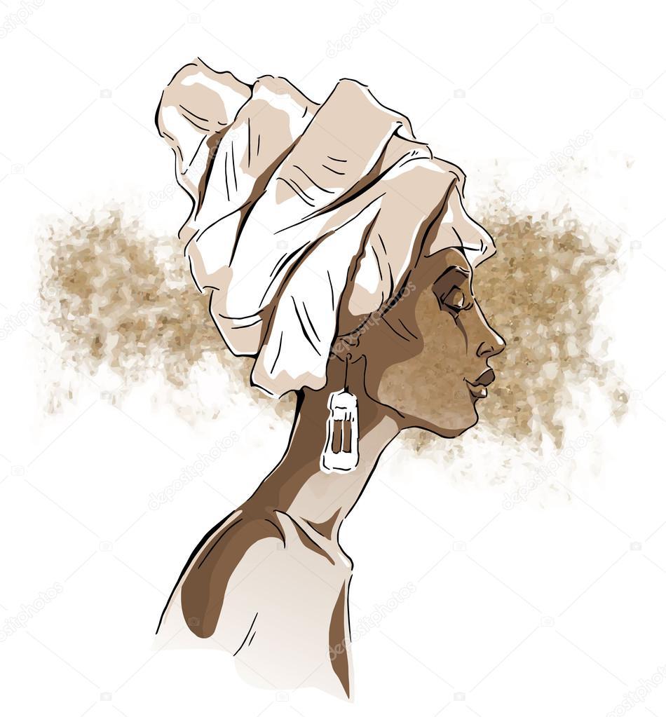 Ritratti di donna africana vettoriali stock ring ring - Diva e donne giornale ...