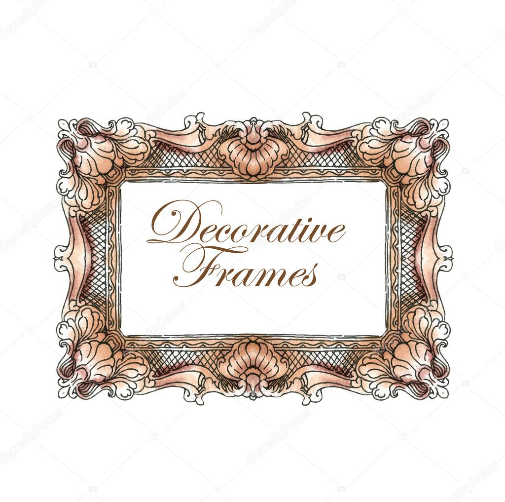 Hand made vector sketch of ornate frames. — Stock Vector © ring-ring ...
